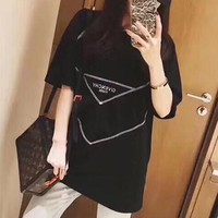"""Versace"" Women Loose Casual Letter Geometric Short Sleeve T-shirt Top Tee"