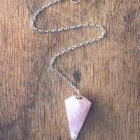 Rose Quartz Pendulum Ornament