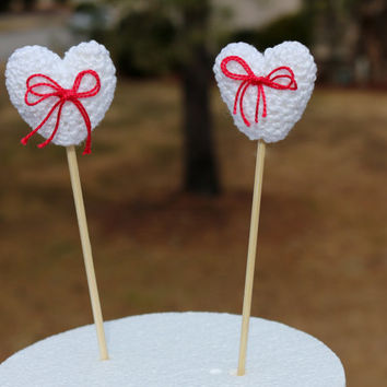 Party decoration hearts, Baby shower Decoration, Cake Topper Hearts, wedding cake topper,  aniversary cake topper