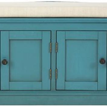 Laughlin Storage Bench - Storage Bench - Storage Benches - Entryway Benches - Bench With Storage - Cushioned Bench | HomeDecorators.com