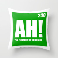 The Element of Surprise Throw Pillow by beoriginal