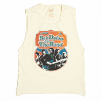 Bob Dylan and the Band Ticket Stub Muscle Tee - Dirty White