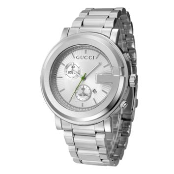 Trendy GUCCI Ladies Men Watch Stylish Watch- Silver