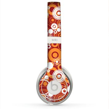 The Abstract Vector Gold & White Circle Swirls Skin for the Beats by Dre Solo 2 Headphones