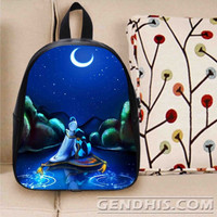 Aladdin And Jasmine Night Moon Custom Bag / School Bag / Childrent Bag / Custom School Bag