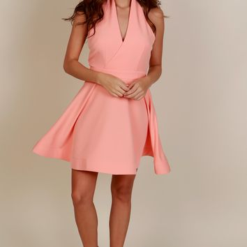 I've Got Class Halter Dress Peach