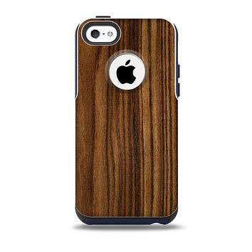 The Bright Ebony Woodgrain Skin for the iPhone 5c OtterBox Commuter Case