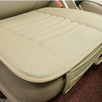 Leather Car Seat Cushion Four Season Use Car Seat Pad bamboo charcoal leather monolithic seat cushion = 1932595460