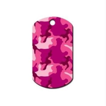 Pink Camouflage Print Military ID Tag