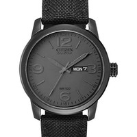 Citizen Mens Black Canvas Watch