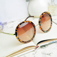 Thin Bar Round Sunglasses BH807