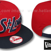 mobile product - Cardinals SNAP-IT-BACK SNAPBACK Red-Navy Hat by