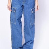 Deadstock Vicky Cargo Denim Wide Leg Pants