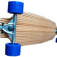 "Bamboo Striped Drop Through Thru 41"" Cruiser Complete Longboard Skateboard New On Sale"