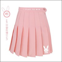 Overwatch Dva I Play To Win Bunny High Waisted Skirt