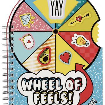 Wheel Of Feels Spinning Notebook - Uncover Your True Feelings!