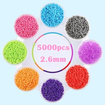 5000pcs/bag 2.6mm EVA Hama Beads 72 Colors for Kids Fun Craft DIY Handmaking Perler Bead Creative Intelligence Educational Toys