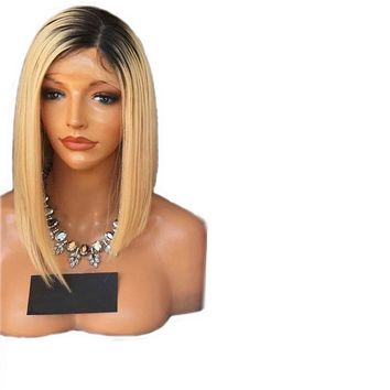DLME Honey Blonde Heat Resistant Synthetic Lace Front Wig With Baby Hair