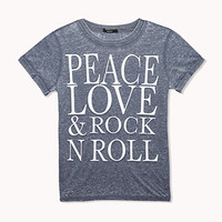 Peace Love Rock n Roll Burnout Tee