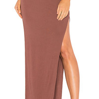 Indah Women's Gigi Solid Side Slit Skirt | Flush