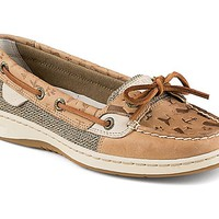 Angelfish Whale Tale Embossed Slip-On Boat Shoe