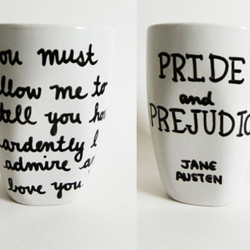 Pride and Prejudice by Jane Austen  title and quote by Espressions