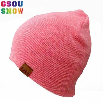 627fbc8485d13 Gsou Snow Autumn Winter Warmth Ski Hats For Men Women Thicken Cotton  Snowboard Knitted Cap Hip