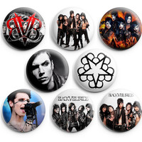 Black Veil Brides BVB ARMY Pinback Buttons Badge 1.25 inch (Set of 8) NEW