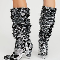 Midnight Party Sequin Boot