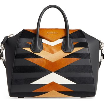 Givenchy Antigona Genuine Calf Hair & Leather Satchel | Nordstrom