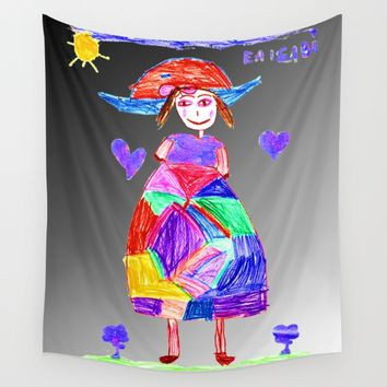 Mrs Evi Wall Tapestry by Azima