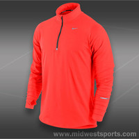 Nike Mens Tennis Shirt, Nike Mens Element Half Zip 504606-844