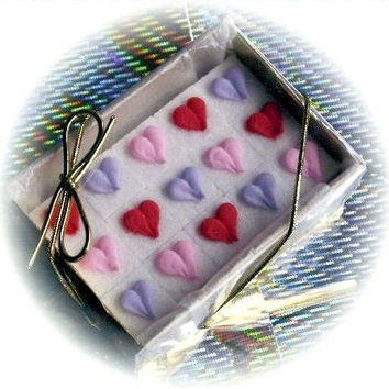 48 Decorated Sugar Cubes - Valentines Day