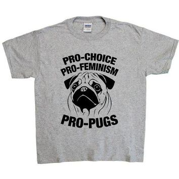 Pro-Choice, Pro-Feminism, Pro-Pugs -- Youth/Toddler T-Shirt