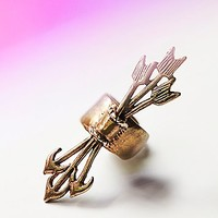Marty Magic Womens Quiver And Arrow Ear Cuff - Brass One