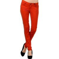 Colored Skinny Jeans, Brick (Size 1)
