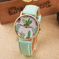 Cactus Watch for Women + Gift Box