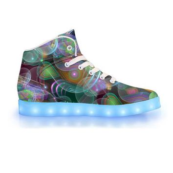 Bubble Drop by Sam and Cate Farrand - APP Controlled High Top LED Shoe