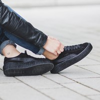 "x Rihanna Suede Creepers Satin ""Triple Black"""