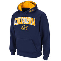 Men's Stadium Athletic Navy Cal Bears Arch & Logo Pullover Hoodie