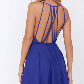 Strappy Together Royal Blue Dress