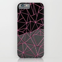 Ab Half an Half Black and Pink iPhone & iPod Case by Project M