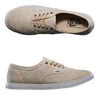 Vans Womens Authentic Lo Pro (Speckle Linen) Tan