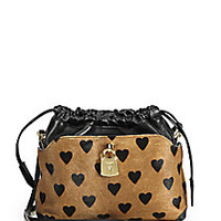 Burberry Prorsum - Little Crush Mixed-Media Heart Convertible Clutch - Saks Fifth Avenue Mobile