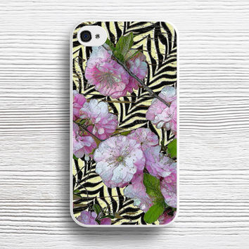 Funky Zebra & Prunus case iPhone 4s 5s 5c 6s 6 Plus Cases, Samsung Case, iPod 4 5 6 case, HTC case, Sony Xperia case, LG case, Nexus case, iPad case