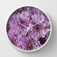Pretty Little Pink Flowers Wall Clock by Maureen Bates Photography