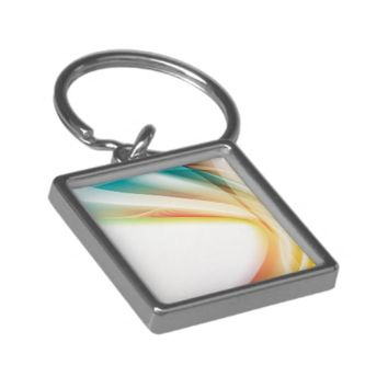 Abstract Swirl 2 Keychain
