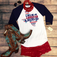 LONE STAR LEGEND NAVY RAGLAN
