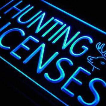 Hunting Licenses Neon Sign (LED)