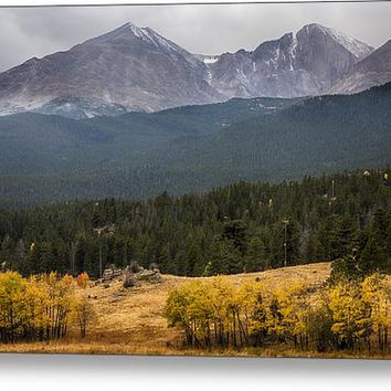 Mount Meeker And Longs Peak Autumn Scenic View Acrylic Print